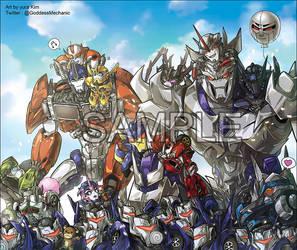 Transformers Prime and Chibi bots by GoddessMechanic