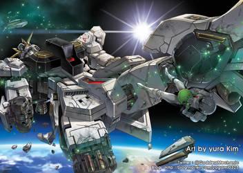 RX93 Gundam my illustration by GoddessMechanic