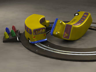 FAILED TOY SLOT CAR SET by Prankly