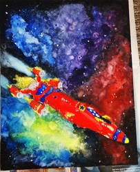 Outlaw Star Watercolour Painting After 3 by Atlantagirl