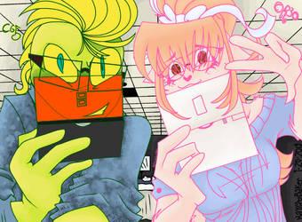 Gamer Geeks W/ Glasses by KatyScene