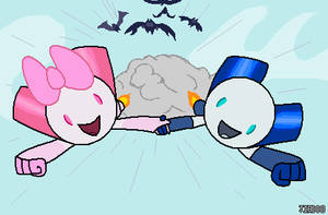 RobotBoy and RobotGirl by Jiaddo