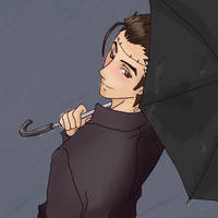 Big Al: Under my Umbrella-ah. by Kaotikachan