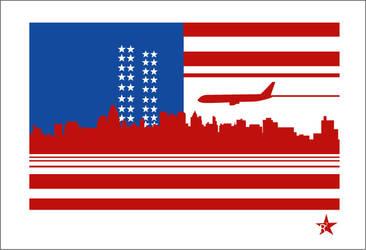 911 Flag by lozart