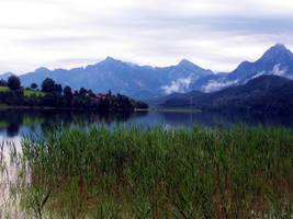 Mountain lake by skoppio