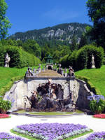 Linderhof castle fountain by skoppio