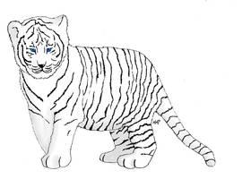 Tiger Cub by skoppio