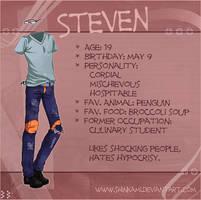Steven character sheet by Shinkami