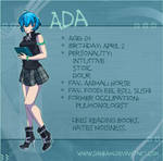 Ada character sheet by Shinkami