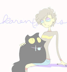 me and my droolcat by Shinkami