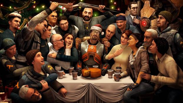 Christmas dinner with Gordon by darthbodan