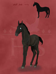 Kladruber colt for Bloodwine-tales by SilverFox812