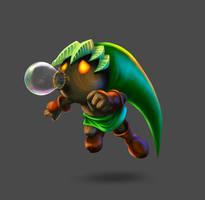 The Legend of Zelda Majora's Mask - Deku Link. by LuisMiguel-ART