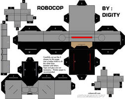 Paper craft Robocop by Digity