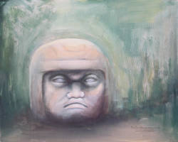 Olmec figure unfinished by NelEilis