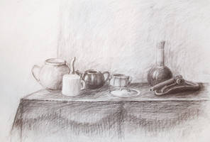 Pots and cups by NelEilis
