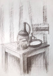 Teapot and pan by NelEilis