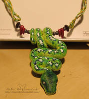 Green boa by NelEilis