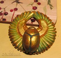 Winged scarab by NelEilis