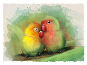 Lovebirds by NelEilis