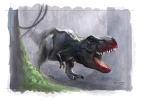 T-rex by NelEilis