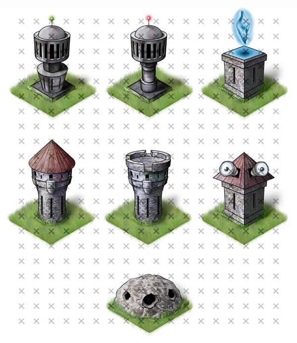 Towers by NelEilis