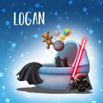 Geboortekaartje Logan by NelEilis