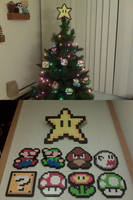 Mario's Christmas tree by aardonix
