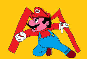 My draw in paint of Mario bros. by aardonix