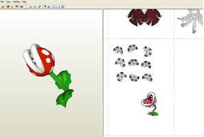 Planta piranha papercraft - WIP by aardonix