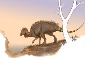 The Island Hadrosaur by Ashere
