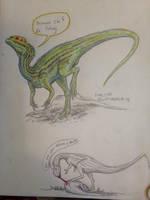 Happy Dilophosaurus by Ashere