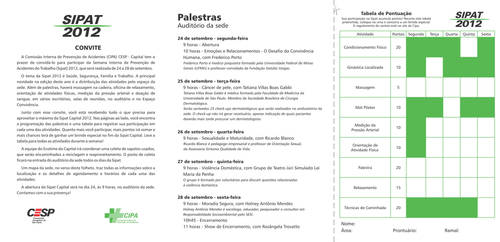 Programa SIPAT CESP 2012 miolo by batsinal