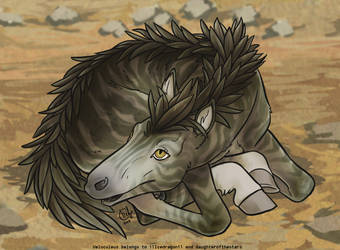Velo Newborn - Sand Raptor by daughterofthestars
