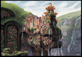 Hanging City - Deep Engines by Seyorrol