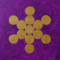 Golden Crown Mandala by Sunrobot