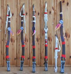 Aloy's spear by CariokaGo