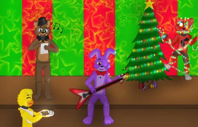 Fnaf 1 Christmas by RockstarFreadBear