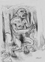 Werewolf - Mid-Transformation by MonoFlax