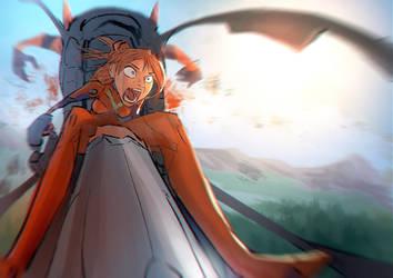 Eva-02, Asuka Strikes by MonoFlax