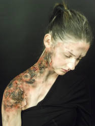 Burn Victim SFX Make-Up by punkd-pyroshadow