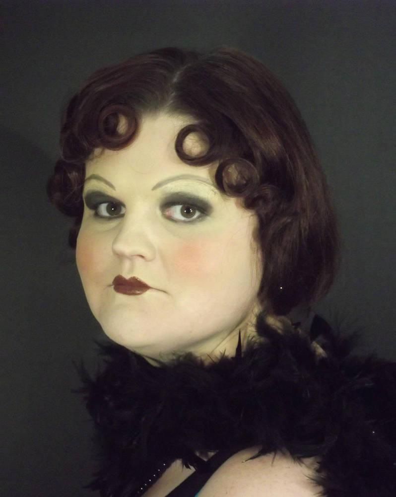 1920s Flapper make-up look by punkd-pyroshadow