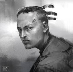 Head sketch by Javoraj