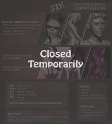 3D Commissions CLOSED TEMPORARILY by Sketchy-Linez