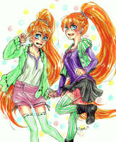 AT: Emi and Mai by hadenamomo