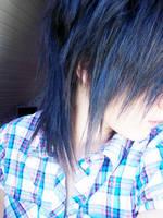 fake blue hair by franziinyourpocket