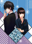 Hifumi and the Protagonist by StreyCat