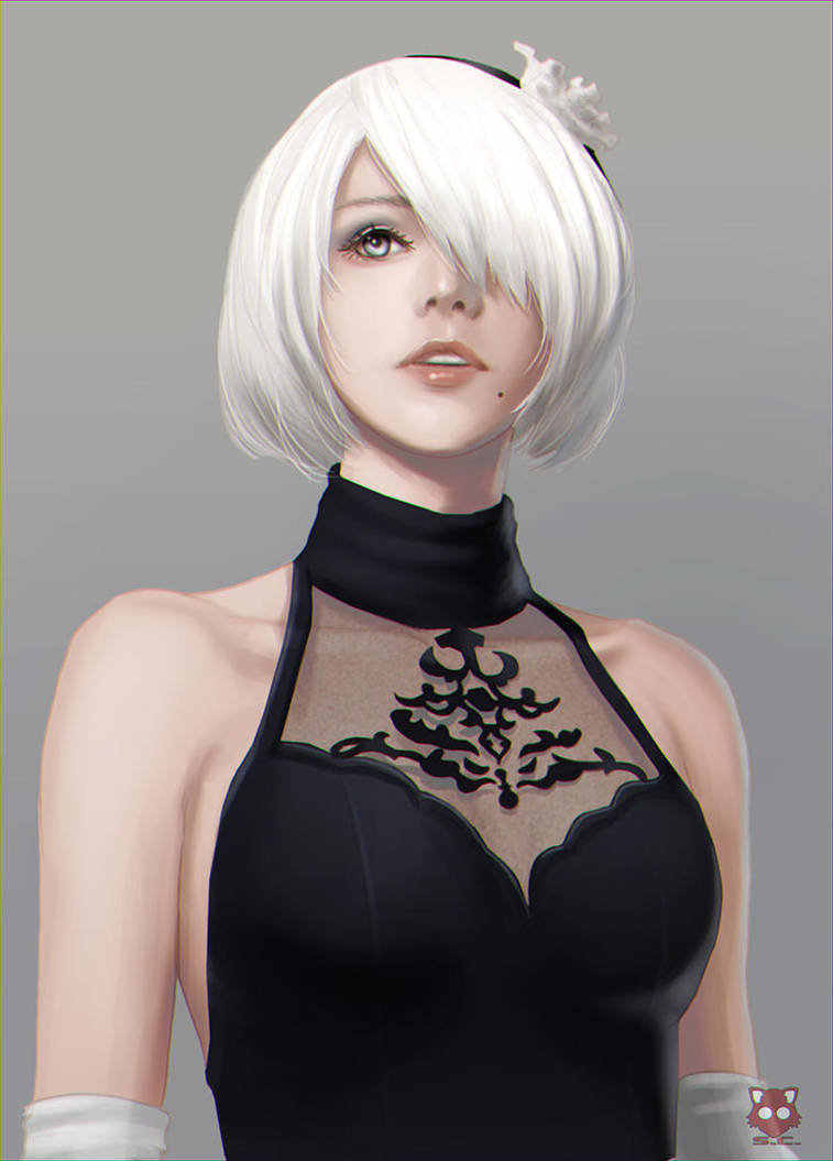 Nier Automata referenced fanart by StreyCat