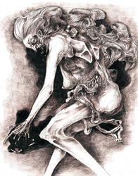 Hair, guts, blood, broken fingers etc. by Kradok