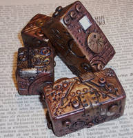 Steampunk Polymer Clay Blocks3 by ValerianaSolaris